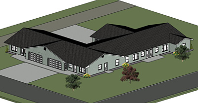 Kenmare ND Housing – Fourplex Plans With Garage